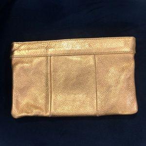Jcrew gold clutch